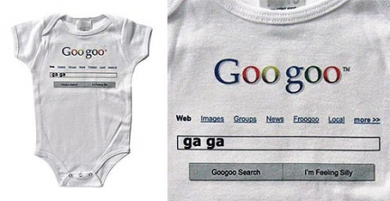 My baby wear google
