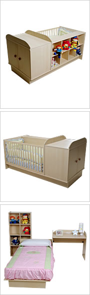 Cuna transformable para los beb�s