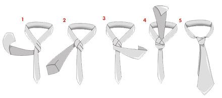 Varias formas de hacer el nudo de la corbata