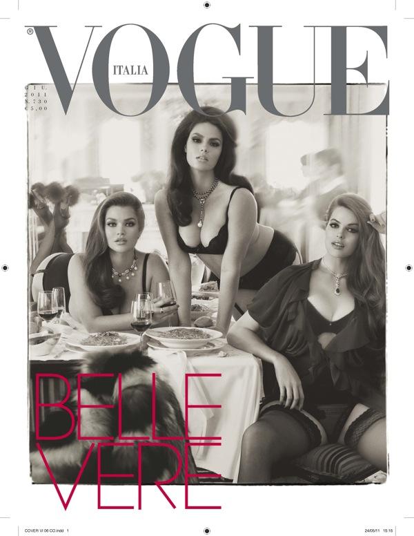 """Modelos """"llenitas"""" en Vogue Italia 2"""