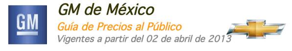 Precios GM México 2013