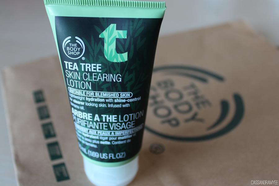 BODY SHOP TEA TREE SKINCARE RANGE HAUL 3 SKIN CLEARING LOTION