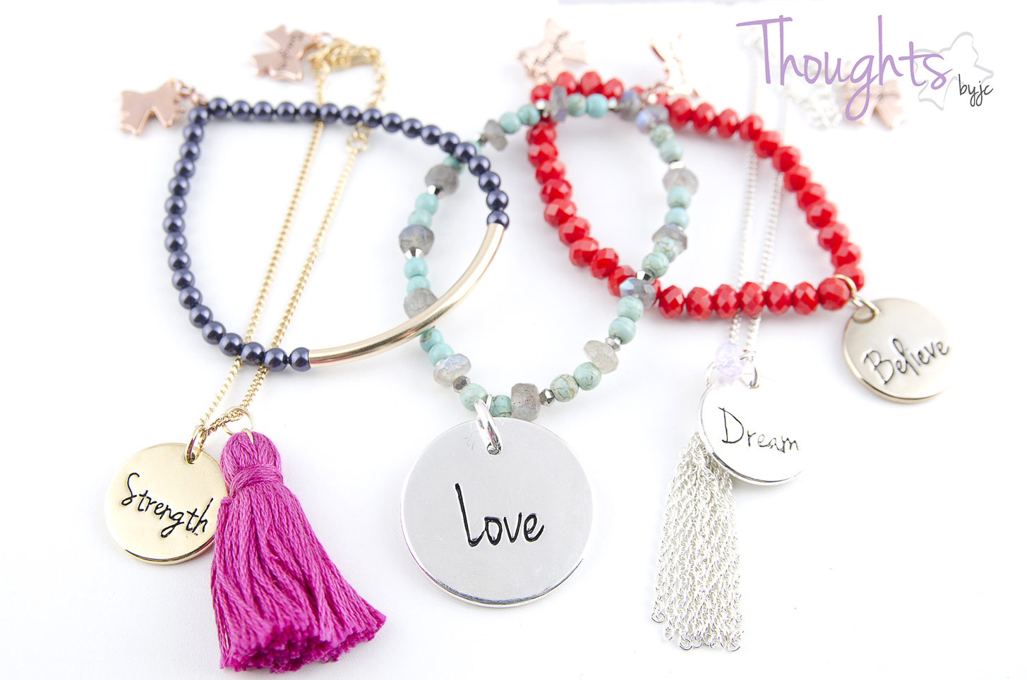 Set pulseras - Thoughts byjc